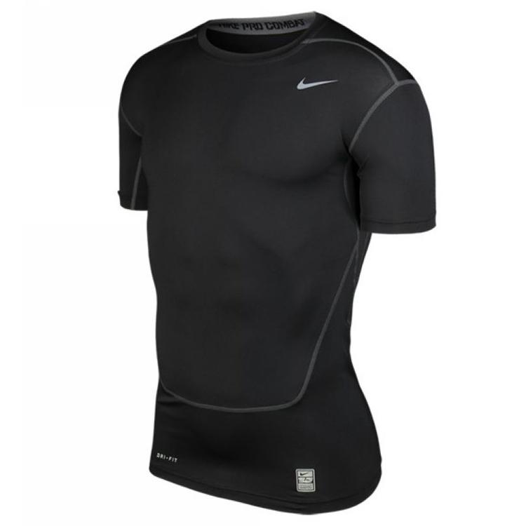 Nike耐克Pro男紧身衣短袖DRI-FIT排汗快干运动T恤 449792