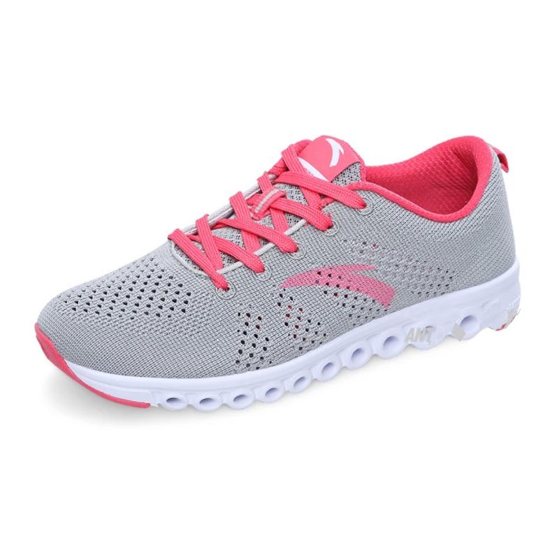 包邮2014新款夏安踏正品跑步鞋针织面料能量环透气女跑鞋12425588