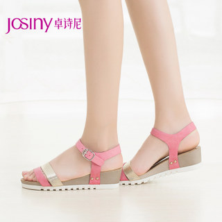 Zhuo Shini 2015 summer styles women's shoes in Europe and open-toe platform wedge Sandals one-word 152134200