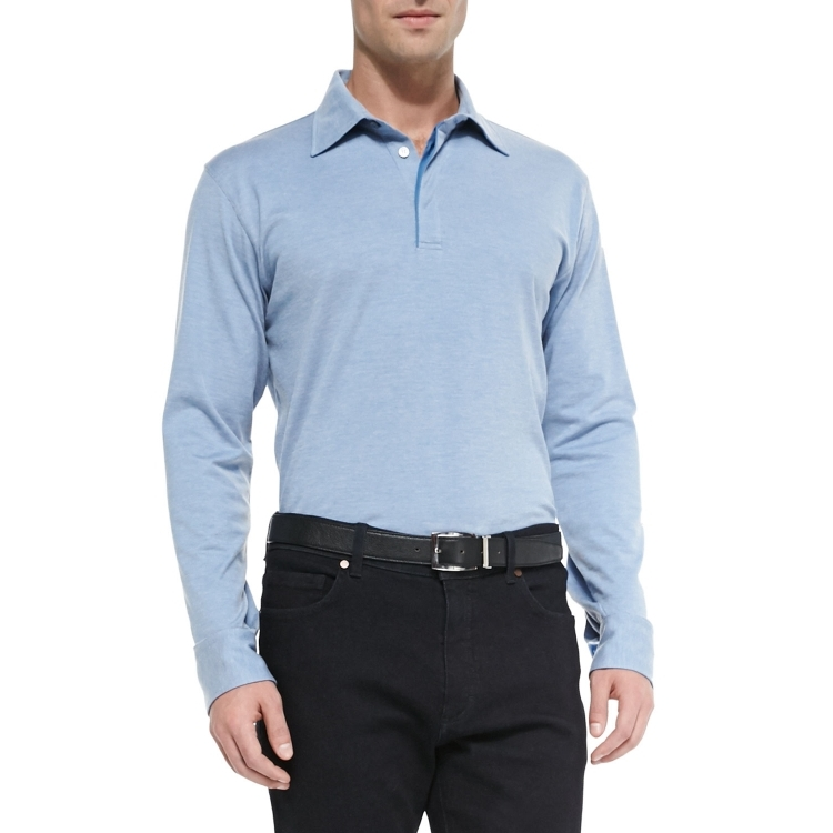 Рубашка поло q01255181 Zegna/POLO BLUE