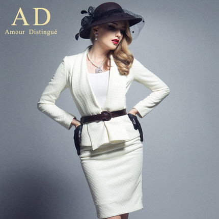 AD elegant European and American big business attire women's suit jacket early autumn new two-piece outfit fashionable O