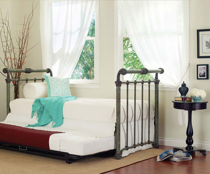 HR- American furniture , children's wrought-iron beds , iron beds retro sled , 1.8 m double iron bed K-R7 free shipping
