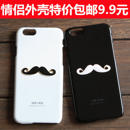 iPhone 6 Apple 4S phone shell protective sleeve iPhone5 / 5S 5C mustache lovers shell mobile phone sets