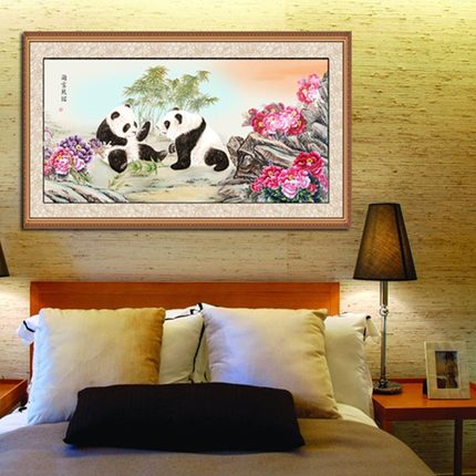 Latest DIY diamond diamond embroidery painting haunting 5D paste drill drill panda animal circle stitch series