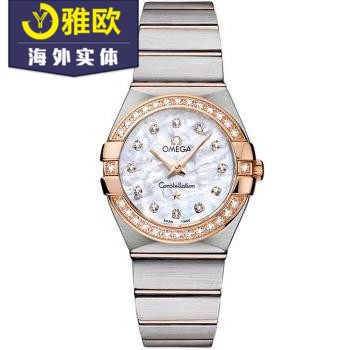 Omega- 123.25.27.60.55.001 Omega Constellation Ladies Quartz Watch