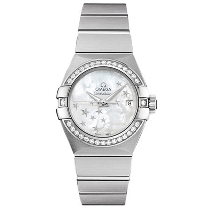 Warranty Swiss female 123.10.31.20.05.001 Omega Constellation series of mechanical steel watch