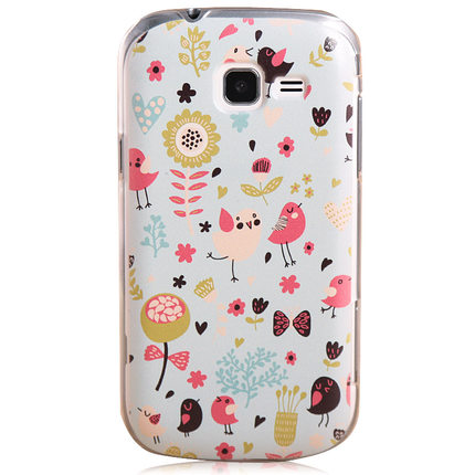 Samsung GT-S7572 mobile phone sets GT-s7562c phone shell i699 / S7568 female bird painting Case