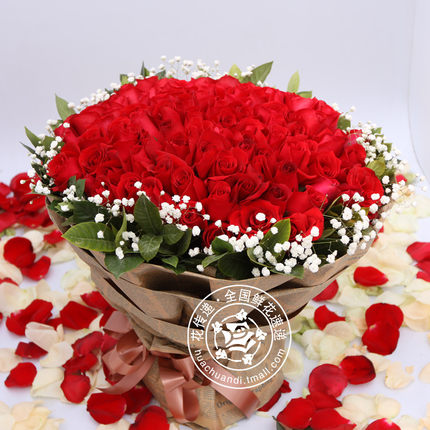 99 red roses bunch of flowers express delivery , Hangzhou , Nanjing , Hefei , Wuhan flower shop flowers Shanghai China