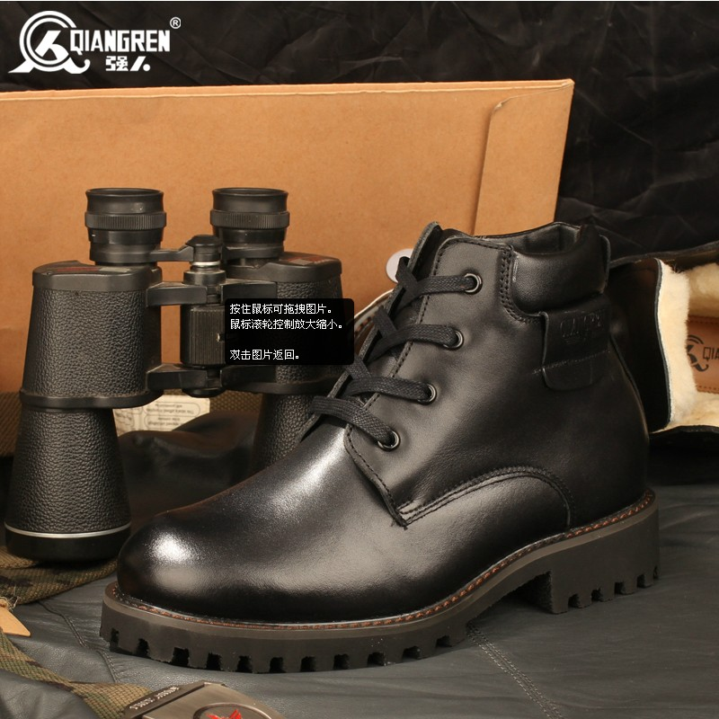 【售罄】3515强人正品特种兵真皮保暖男羊毛靴军勾棉靴户外靴皮靴工装靴