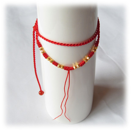 chinese pin luck swarovski glamorin by ultra string necklace bracelet good crystal thin red