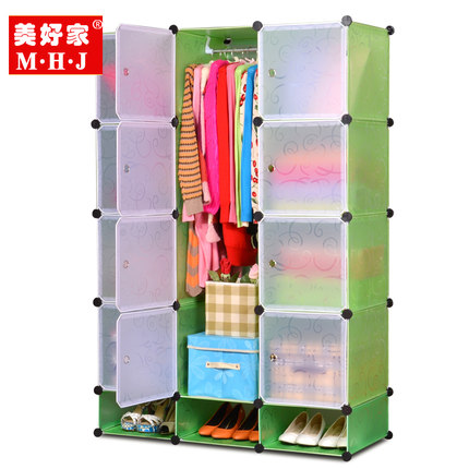 OK home diy magic piece wardrobe closet wardrobe combination of children assembled plastic simple wardrobe nation free shipping