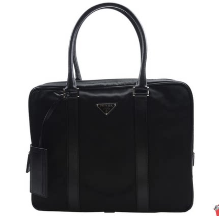 14c73549b3a4bd PRADA Prada nylon with leather men's nylon laptop briefcase men VA0661 2E9S  F0002