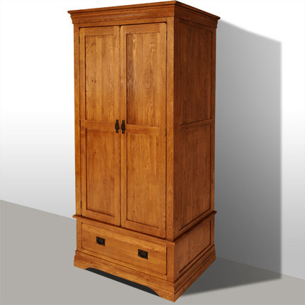 Buy Green Living Love White Oak Solid Wood Furniture French Country Style Two Wooden Wardrobe