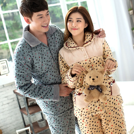 d37276e9a1 Buy Ms. thick winter pajamas couple male couple quilted flannel pajamas  women tracksuit suit cartoon in Cheap Price on m.alibaba.com