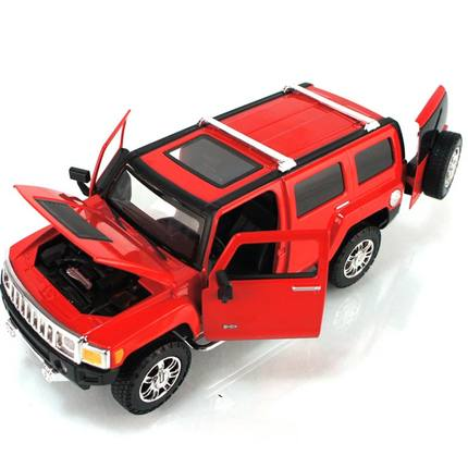 CAIPO 1:24 Hummer off-road Hummer H3 public security police car model alloy car toy delicate domineering