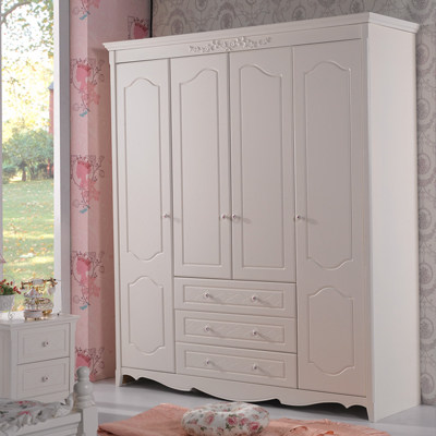 Get Quotations · Jinli Xuan Korean Garden Style Bedroom Furniture Assembled  Four Overall Wood Wardrobe Lockers 993