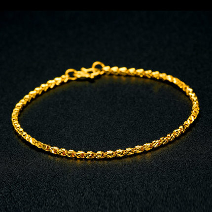 Buy ya li jewelry 24k gold 999 gold bracelet female models for Fine silver 999 jewelry