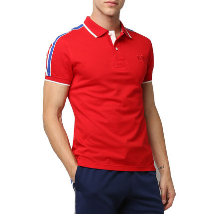 PLORY Korean clothing authentic men love sports solid color short-sleeved summer shirt POLO POHA424001