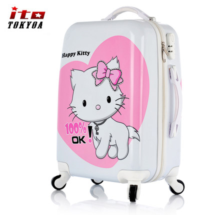 Get Quotations · ito Tokyoa Hello Kitty Trolley 20-inch female child  suitcase Korea suitcase caster 24 - 88d9acfa3d77f