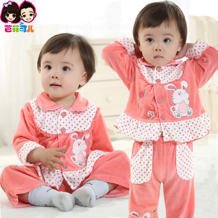 fb4f8dc79490 Buy Kids Spring and Autumn 4-0-1-2-3 year-old female infant baby ...
