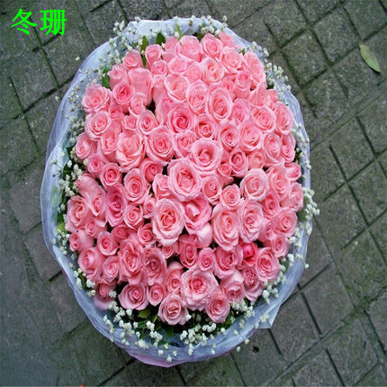 Girlfriend lover anniversary flower delivery Beijing Chaoyang Changping city of Handan florist send pink roses 99