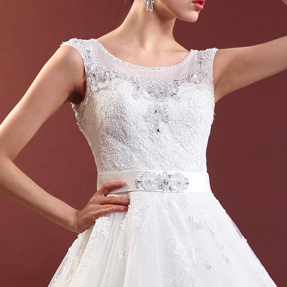 名门新娘 2014新款蓬蓬婚纱 公主婚纱 蕾丝包肩大裙摆婚纱534