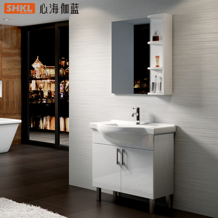 心海伽蓝实木浴室柜CXZ25