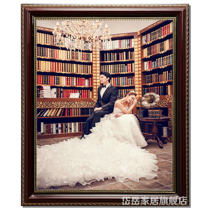 Daiyue European wood frame wall 12-inch 24-inch picture frame wedding picture frame swing sets custom puzzle box