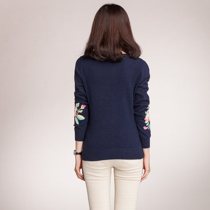 Ou Silu 2014 winter new 100% pure cashmere sweater bottoming Korean fashion hand-embroidered sweater