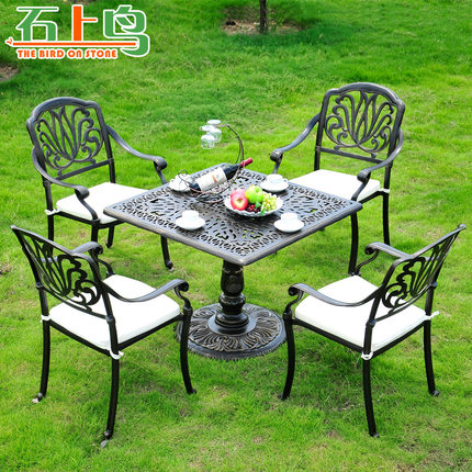 Cheap outdoor tables chairs find outdoor tables chairs for Cast iron outdoor coffee table