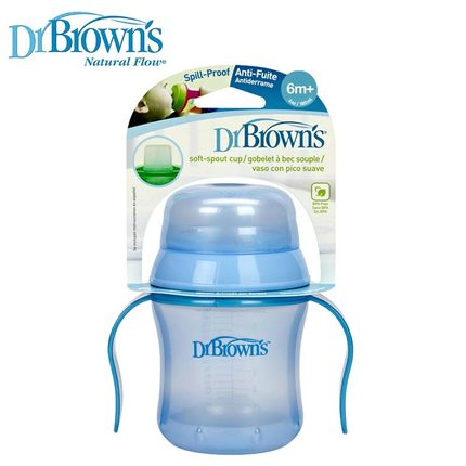 Dr. Brown baby learn to drink cup soft mouth beak cup leak-proof training cup learn Shank drinking cups cups shipping
