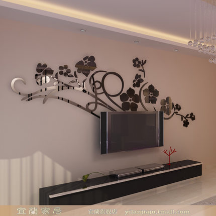 buy ilan acrylic crystal stereoscopic 3d relief wall stickers living