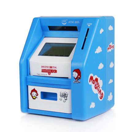 LIKE atm large touch screen Automatic Teller Machine creative gifts for children piggy bank deposit machine free shipping